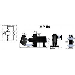 Pompe a main S.E - 250 B - 43 cc/REV - Avec levier - Réservoir séparé