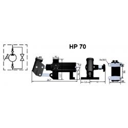 Pompe a main S.E - 200 B - 70 cc/REV - Avec levier - Réservoir séparé