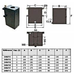 Réservoir acier 3 L pour pompe manuelle