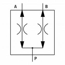 Diviseur de débit alu - 50-50 - 40 à 90L/mn - 1/2 BSP- 210 Bar.