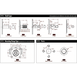 Pompe hydraulique KUBOTA - 7 cc - Arbre CONIQUE - GAUCHE - GH
