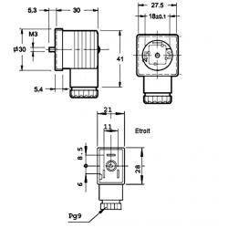 Connecteur avec LED - 70/220 V