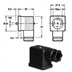 Connecteur standard simple Gris