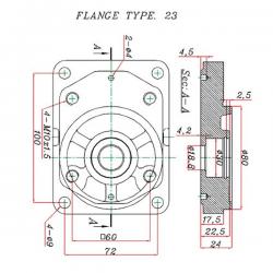 Pompe hydraulique auxiliaire BOBARD - DROITE - 06.0 CC - BRIDE BOSCH