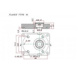 Pompe hydraulique SOMECA - GAUCHE - 8 CC