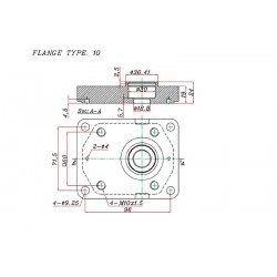 Pompe hydraulique A ENGRENAGE GR2 - GAUCHE - 14.0 CC - BRIDE EUROPEENNE