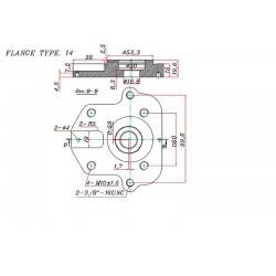 Pompe hydraulique Double MASSEY FERGUSSON - GAUCHE - 11 + 8 CC MF3701005M91 Pompes hydraulique 566,40 €