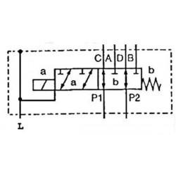SELECTEUR HYDRAULIQUE - 1 ELEMENT - 6 VOIES - 1/2 BSP-80 L/MN- 250 B - 12 VDC - Avec Drain