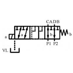SELECTEUR HYDRAULIQUE - 1 ELEMENT 6 VOIES - 3/8 BSP-50 L/MN- 250 B - 12 VDC - Avec Drain