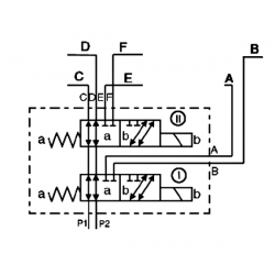 SELECTEUR CETOP 3 -8 VOIES - 3/8 BSP-50 L/MN- 210 B - 12 VDC