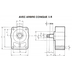 Contre palier - GR2- ARBRE CONIQUE 1:8 *21040025402 Arbre conique 109,44€