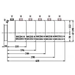 Reservoir H hydraulique métal - 5 L - pour mini centrale