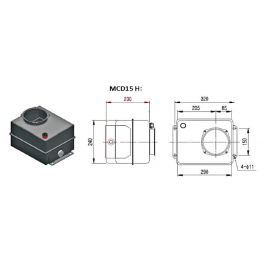 Reservoir V hydraulique métal - 15 L - pour mini centraleMCD15H Reservoirs hydraulique 131,71€