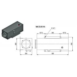Reservoir H hydraulique métal - 20 L - pour mini centrale MCD20H Reservoirs hydraulique 180,48€