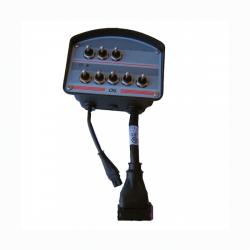 Boitier de commande : 8 Interrupteurs à bascule - MOM/OFF/MOMM - By pass - 4 M de cable911813 Boitier avec interrupteurs 834,...