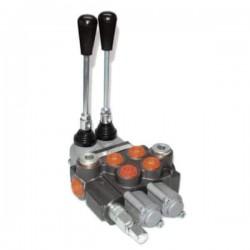 Distributeurs hydraulique 45 L/mn - 315 bar - 3/8 BSP - D.E - 2 Leviers - Limiteur Pression