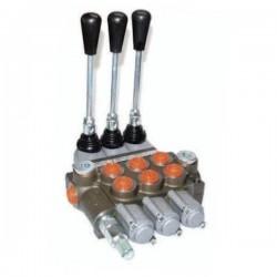 Distributeurs hydraulique D.E 45 L/mn - 315 bar - 3/8 BSP - 3 Leviers - Limiteur Pression YFM353383PDDD Distributeurs 45 L/mn...