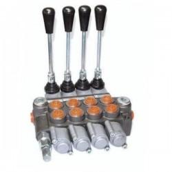 Distributeurs hydraulique D.E 45 L/mn - 315 bar - 3/8 BSP - 4 Leviers - Limiteur Pression YFM354384PDDDD Distributeurs 45 L/m...