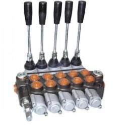 Distributeurs hydraulique D.E 45 L/mn - 315 bar - 3/8 BSP - 5 Leviers - Limiteur Pression YFM355385PDDDDD Distributeurs 45 L/...