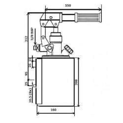Pompe a main - 3/8 - S.E - 300 B - 12 cc/REV - Avec levier et réservoir cylindrique 4L. HPS1204 124,80 €