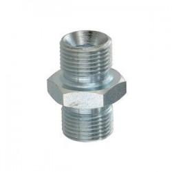 Adaptateur mâle  hexagonal avec portée de joint - MBSPCT 1/2 x MBSPCT 1/2 - Cône 60°.