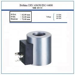 Bobine NG 10 - D.Int  31 mm - 12 VDC - 45 Watt