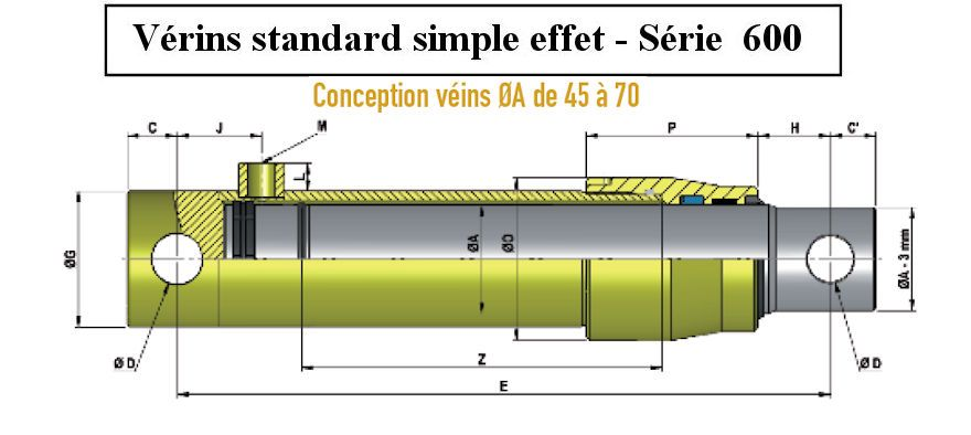 """Hydraulique Cetop 5 Sous-Plaque avec Entrée Latérale 1//2 /"""""""