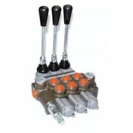 Distributeurs hydrauliques - 1/2 BSP - D.E - 3 Leviers - Limiteur Pression 140 B - 60 L/mn