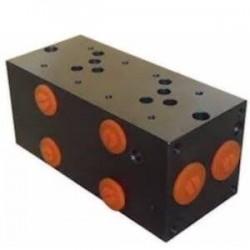 Embase pour 2 electro NG10 - 1/2 - Série et Tandem - Sans limiteurPFNG102SLH Distributeurs hydraulique 182,40€
