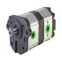 Pompe hydraulique Double MASSEY FERGUSSON - GAUCHE - 11 + 8 CC