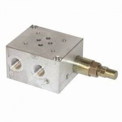 Embase pour 1 electro NG6 - Avec Limiteur de pression - SORTIE LATERALES et DESSOUS 3/8 PBL6VMP Distributeurs hydraulique 170...