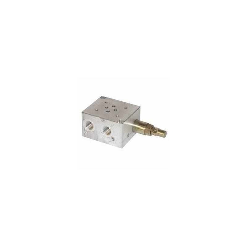 Embase pour 1 electro NG6 - Avec Limiteur de pression - SORTIE LATERALES et DESSOUS 3/8PBL6VMP Distributeurs hydraulique 170,...