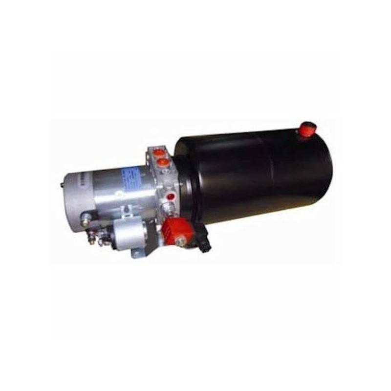 Mini centrale hydraulique S.E - 12 V - 1600 W - pompe 1.6 cc - Réservoir 2L AcierMC12SE162 Minicentrale 12 VDC - Simple Effet...