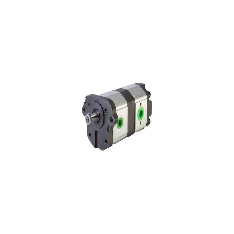 Pompe hydraulique Double - GAUCHE - 11 + 8 CC - Massey Fergusson
