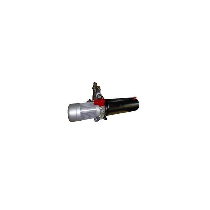 Mini centrale Double Effet hydraulique 220/380 V TRI - 2 CV - pompe  5.8 CC - Réservoir 4 Lts