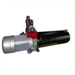 Mini centrale Double Effet hydraulique 220/380 V TRI - 1 CV - pompe  3.7 CC - Réservoir 3 Lts
