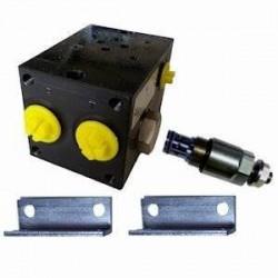 Embase pour 1 electro NG6 - 3/8 - Avec limiteur PF1CL180H Distributeurs hydraulique