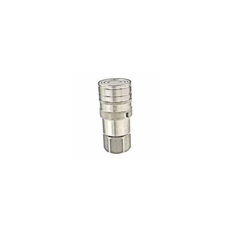 Coupleur hydraulique ANTI-POLLUTION FACE PLANE - Femelle 1/2 BSP - PS 250 Bar