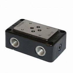 Embase pour 1 electro NG6 - EMBASE NG6 - SORTIE COTE et DESSOUS 3/8 ES3D38PL Distributeurs hydraulique