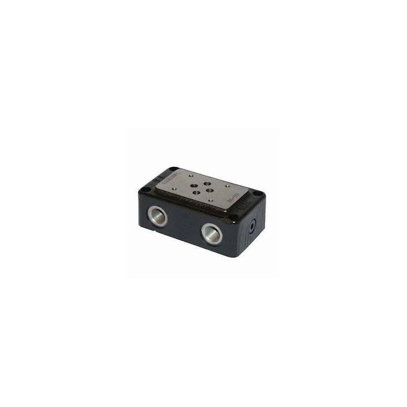 Embase pour 1 electro NG6 - EMBASE NG6 - SORTIE COTE et DESSOUS 3/8