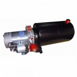 Mini centrale hydraulique S.E - 12 V - 1600 W - pompe 4.2 cc - Réservoir 8 L Acier MC12SE428 Minicentrale 12 VDC - Simple Eff...