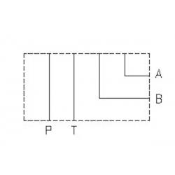 Embase simple NG10 - sortie A et B latérale - P et T arriere