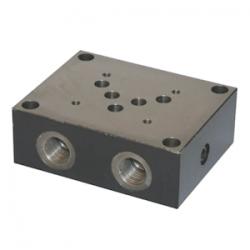 Embase simple NG10 - sortie A et B latérale - P et T arriereES5A12PL Distributeurs hydraulique 188,64€