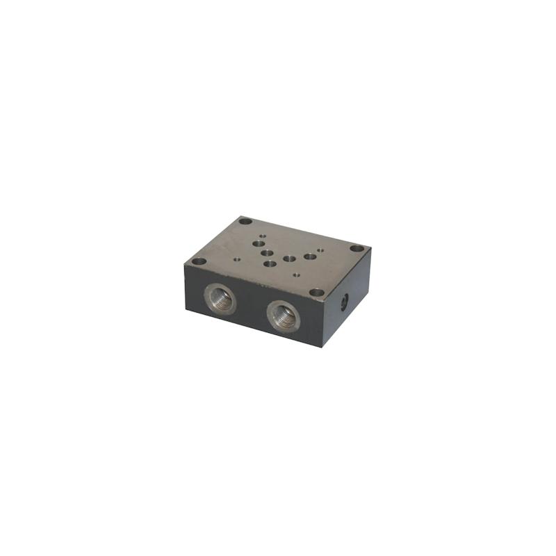 Embase simple NG10 - sortie A et B latérale - P et T arriere ES5A12PL Distributeurs hydraulique