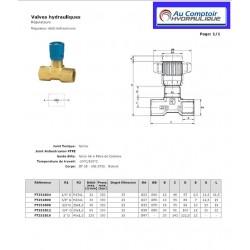 Regulateur de débit Bidirectionnel : 1/2 FBSP - 45 L/mn - 350 B FT251B08 Valves hydraulique 36,00€