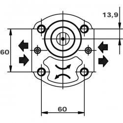 Pompe hydraulique Casappa A ENGRENAGE GR2 - 11 CC - GAUCHE