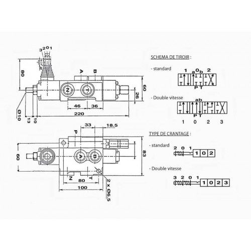 distributeur fendeuse - DM 80 SIMPLE VITESSE DM801 DISTRIBUTEUR 80 L/Mn 148,80€