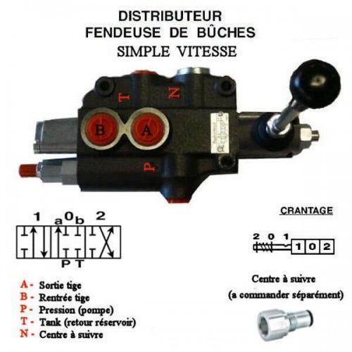distributeur fendeuse - DM 80 SIMPLE VITESSE DM801 Distributeurs de fendeuse 80 L/mn
