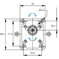 Pompe GR1 hydraulique - DROITE - 0.7 CC BTD107D03 Pompe GR1 76,80€