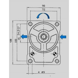 Pompe hydraulique A ENGRENAGE GR2 - GAUCHE - 6.0 CC - BRIDE BOSCHBTD2060I04 GR2 - BOSCH - C80 - CONE 1/5 - BRIDE 23  134,40€